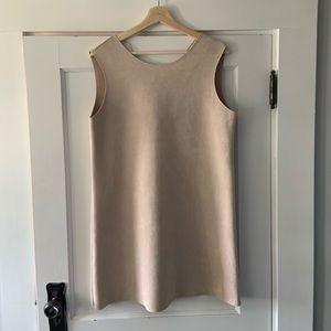 Zara faux suede dress
